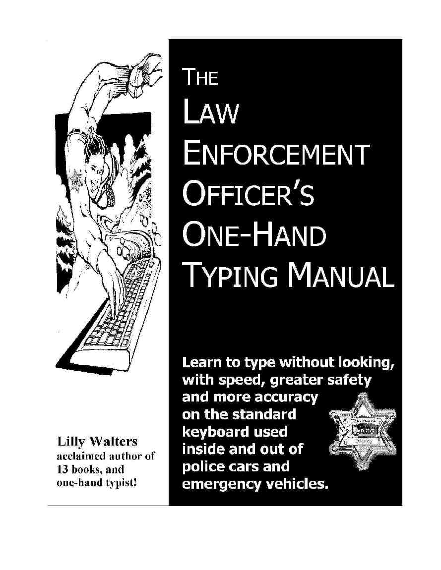 Law Enforcement Officer's One Hand Typing Manual